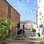 courtyard beer garden